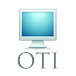 Picture of a computer with the label OTI