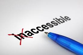 the word inaccessible with in crossed out